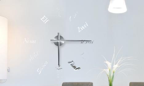 Wandtattoo Uhr - Zahlenbuchstaben