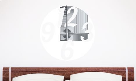 Wandtattoo Uhr - Große Zahlen