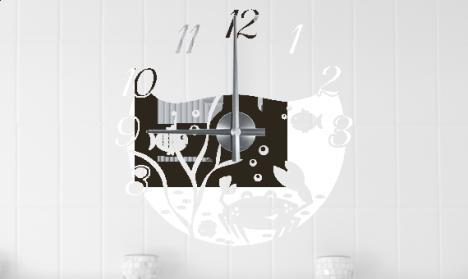 Wandtattoo Uhr Meeresbewohner