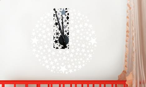 Wandtattoo Uhr - Sternenhimmel
