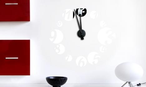 Wandtattoo Uhr Zahlen Bubbles