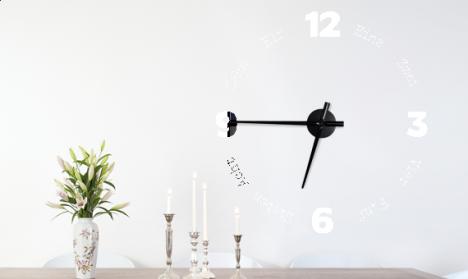 Wandtattoo Uhr - Typewriter Numbers