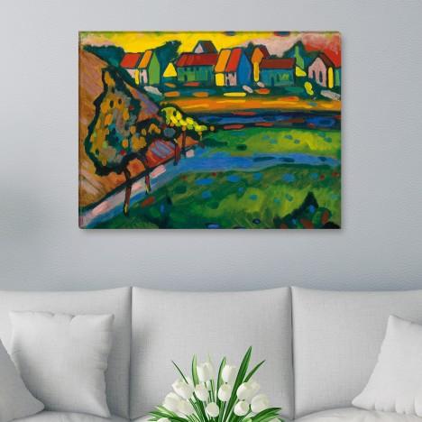 Wassily Kandinsky - Bayerisches Dorf mit Feld