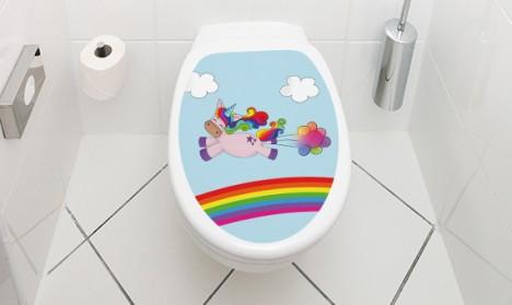 Toilettendeckel Einhorn Fart