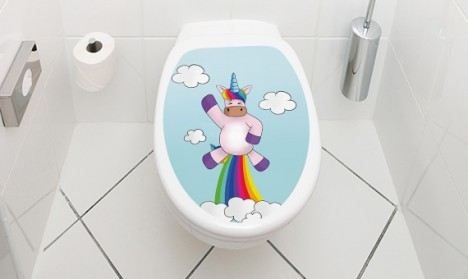 Toilettendeckel Einhorn Rocket