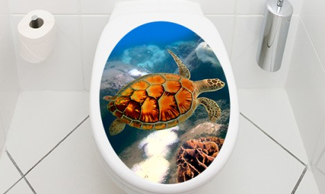 WC Aufkleber Schildkröte