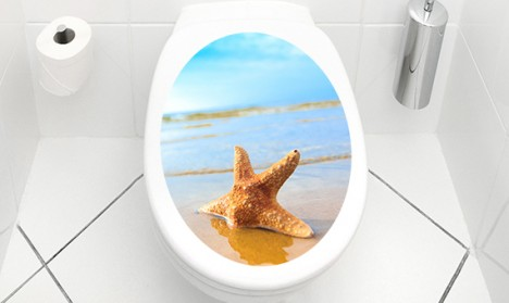 WC Aufkleber Starfish On The Beach
