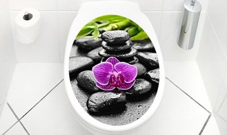 WC Aufkleber Wellness Stones