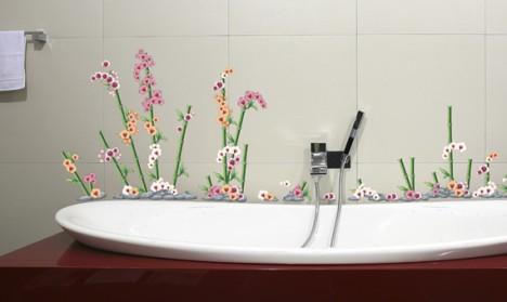 Wandsticker Set Mega - Bunte Orchideen