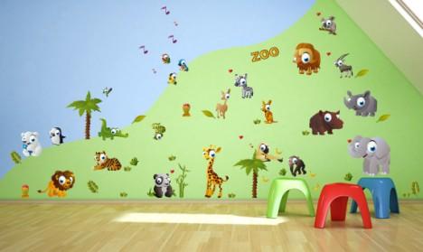 Wandsticker Mega Set - Zoo