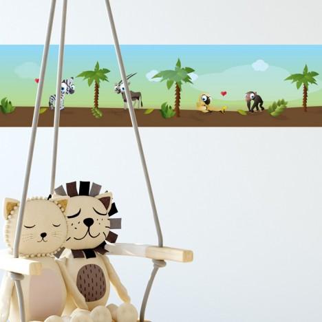 Kleine Zootiere Bordüre - 4,50 m
