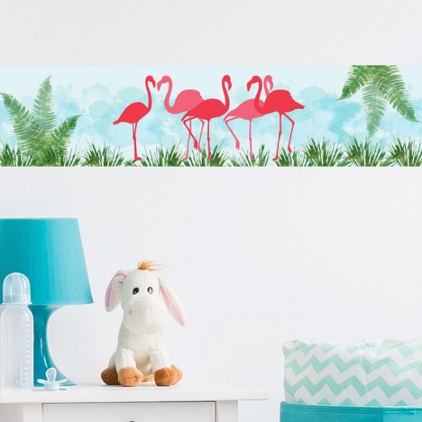 Bordüre Flamingos