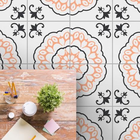 bodenfliesenaufkleber für küche und bad muster lilli