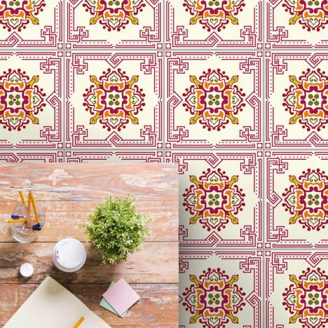 bodenfliesenaufkleber für küche und bad muster sarina