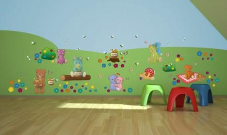 Wandsticker Mega Set - Teddybären Picknick