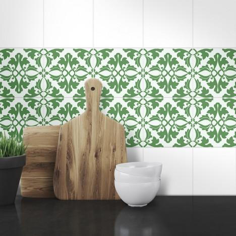 Muster Fliesenaufkleber Erika für die Küche
