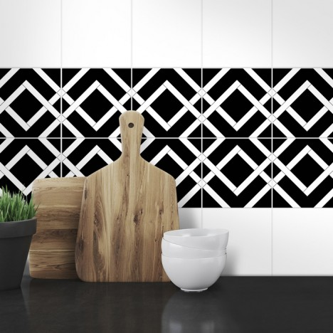 Muster Fliesenaufkleber Gelvin fürs Bad und die  Küche