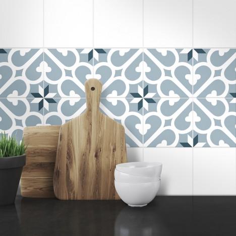 Muster Fliesenaufkleber Liliana für die Küche und das Bad