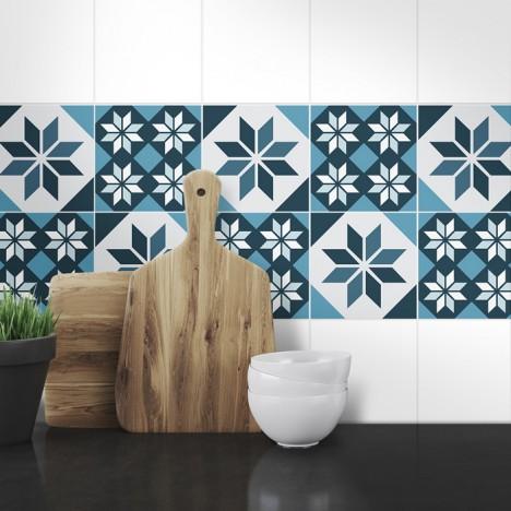 Muster Fliesenaufkleber Marlene für die Küche und das Bad