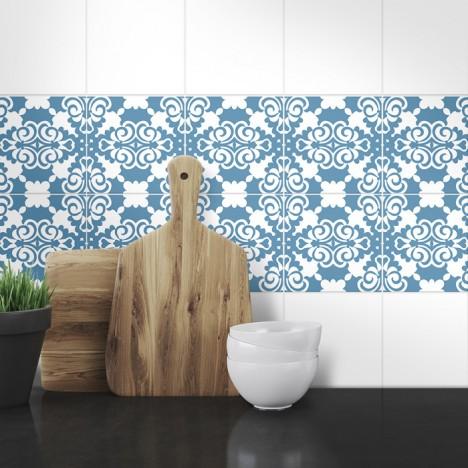 Muster Fliesenaufkleber Nina für die Küche