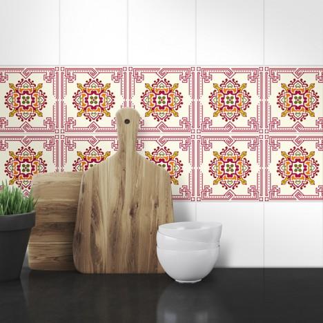 Muster Fliesenaufkleber Sarina für die Küche