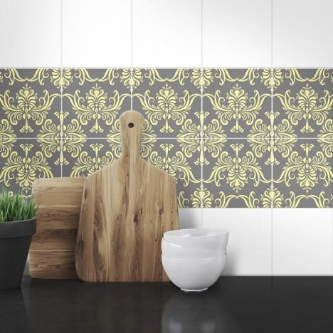 Muster Fliesenaufkleber Silija für die Küche
