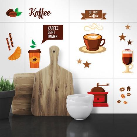sticker küche kaffee