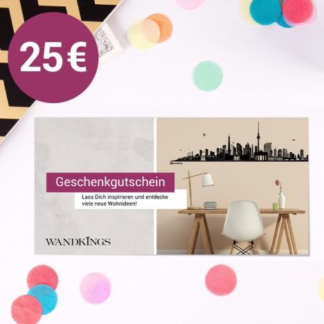 Geschenkgutschein Wandkings 25 €