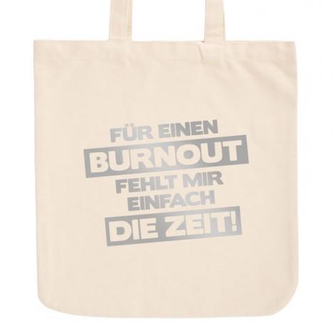JUNIWORDS Pastell Jutebeutel Für einen Burnout fehlt mir einfach die Zeit!