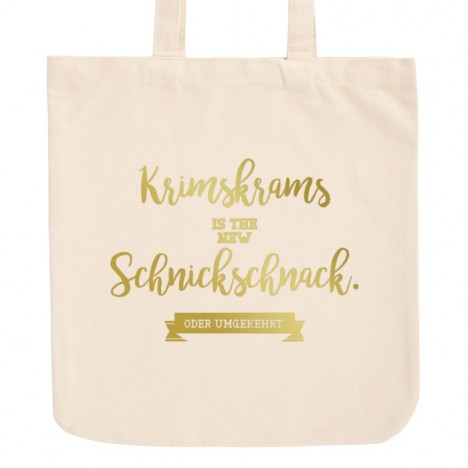 JUNIWORDS Pastell Jutebeutel Krimskrams is the new Schnickschnack