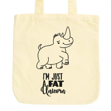 JUNIWORDS Pastell Jutebeutel I'm just a fat Unicorn