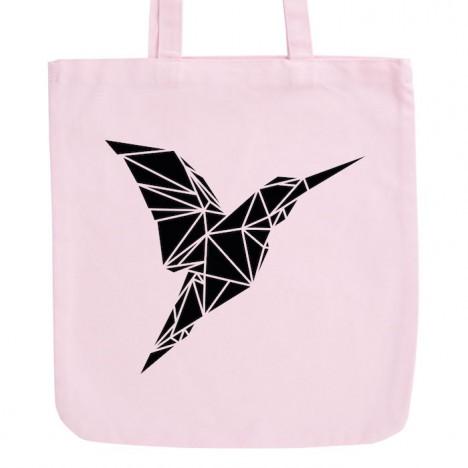 JUNIWORDS Pastell Jutebeutel Origami Kolibri