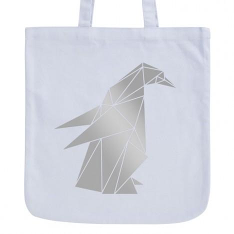 JUNIWORDS Pastell Jutebeutel Origami Pinguin