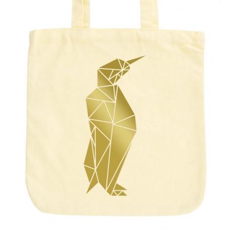 JUNIWORDS Pastell Jutebeutel Origami Pinguin 2