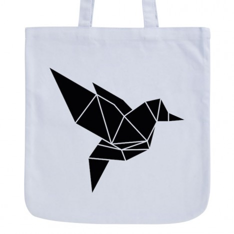 JUNIWORDS Pastell Jutebeutel Origami Vogel