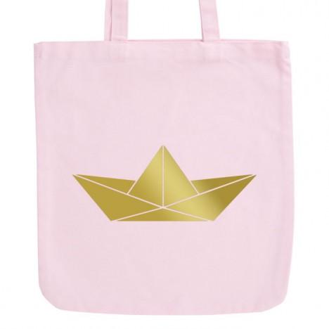 JUNIWORDS Pastell Jutebeutel Origami Papierboot