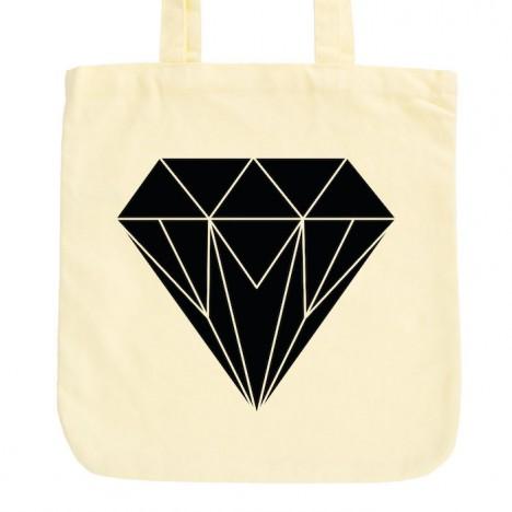 JUNIWORDS Pastell Jutebeutel Origami Diamant