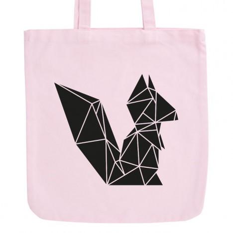 JUNIWORDS Pastell Jutebeutel Origami Eichhörnchen