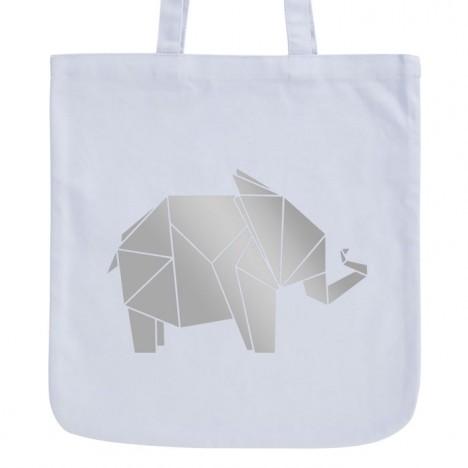 JUNIWORDS Pastell Jutebeutel Origami Elefant