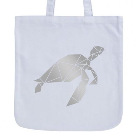 JUNIWORDS Pastell Jutebeutel Origami Schildkröte