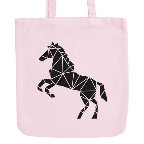 JUNIWORDS Pastell Jutebeutel Origami Pferd