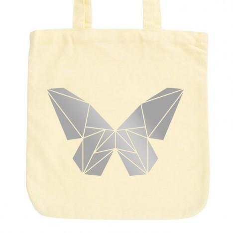 JUNIWORDS Pastell Jutebeutel Origami Schmetterling