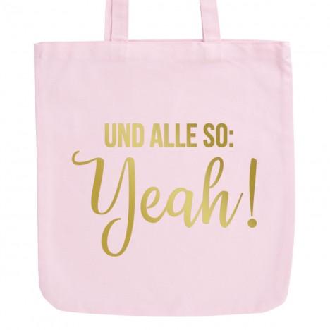 JUNIWORDS Pastell Jutebeutel Und alle so: Yeah!