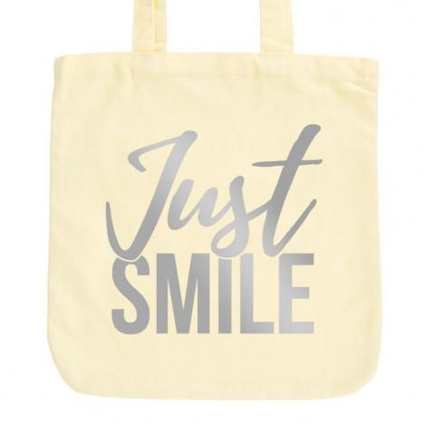 JUNIWORDS Pastell Jutebeutel Just smile