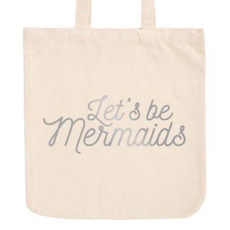 JUNIWORDS Pastell Jutebeutel Let's be mermaids