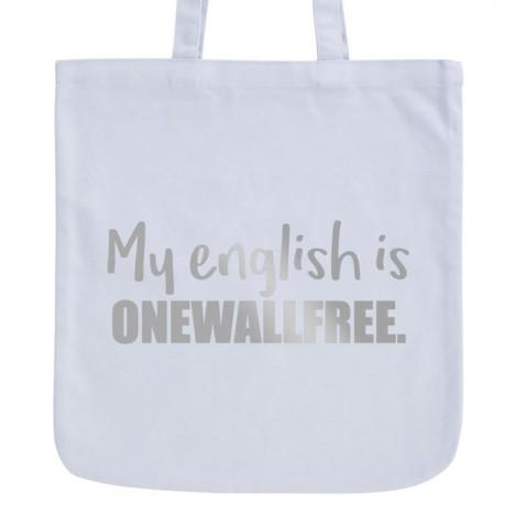 JUNIWORDS Pastell Jutebeutel My english is onewallfree