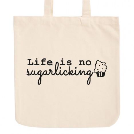 JUNIWORDS Pastell Jutebeutel Life is no sugarlicking