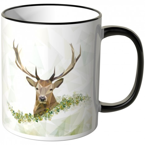 JUNIWORDS Tasse Majestätischer Hirsch-2