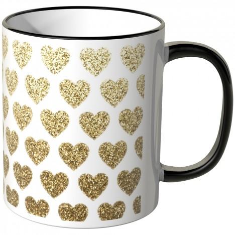 JUNIWORDS Tasse goldene Herzchen