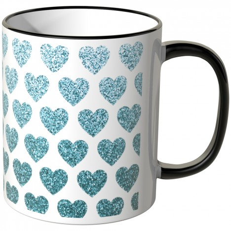 JUNIWORDS Tasse blaue Herzchen